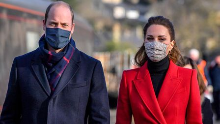 The Duke and Duchess of Cambridge arrive at Bath Spa train station, ahead of a visit to a care home