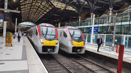 Greater Anglia trains at Liverpool Street