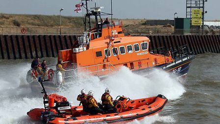 The all weather and inshore lifeboat were both called to help town the stricken yacht.