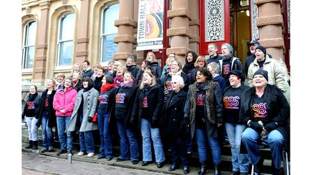 Suffolk Soul Singers entertaining with carols in Ipswich town centre in 2010