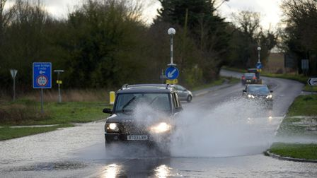 The yellow weather warning is for the whole of East Anglia and runs into Christmas Eve