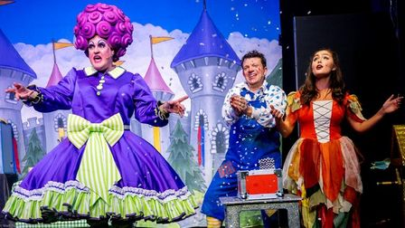 Pantomime dame PeterBrad-Leigh broke his leg during the dress rehearsal of The Magic of Panto at Diss Corn Hall. He is...