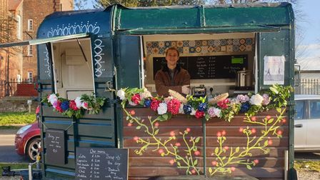 Sunset Café has set up on the top of Ketts Hill, along Britannia Road.