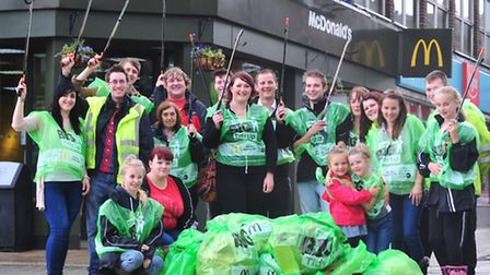 Volunteers take part in a litter pick in Lowestoft and Pakefield.