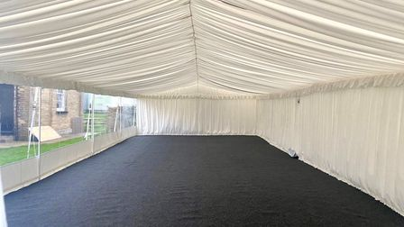 Diners at the Maids Head, Wicken, can now enjoy outside dining in a heated marquee. It is #Covidsafe and open for business...