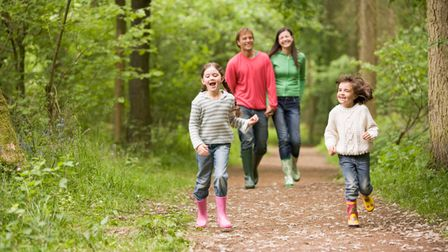Enjoy walking with the family