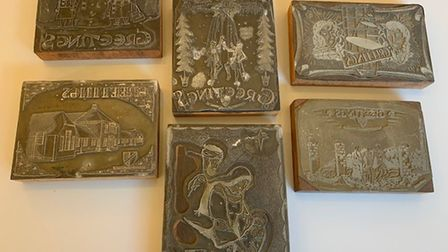 Christmas printing blocks produced by Downham Grammar School pupils in the 1950s. Picture: Discover Downham