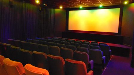 Exmouth's Savoy Cinemawith big screen and rows of seats