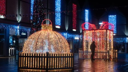The Arc shopping centre in Bury St Edmunds is full of festive sparkle with the Christmas lights now