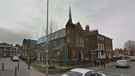 A window on Our Lady of Annunciation Catholic Church in North Everard Road was smashed on Monday, December 21.