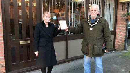 Daniel Robinson Funeral Directors were presented with an Above and Beyond Award from town mayor Mike