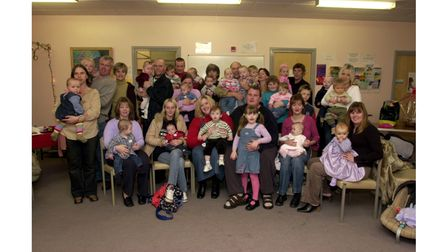 The annual Special Care Baby Unit Christmas party held at ColchesterHospital in 2002