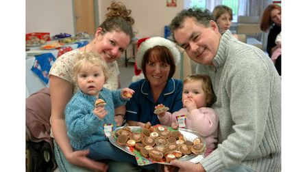 Colchester Hospitalspecial care baby unit's Christmas party in 2004
