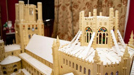 Couple build iconic Ely Cathedral out of 400,000 Lego bricks during lockdown..Mike Addis and Catheri