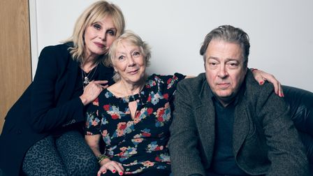 Jan Etherington, pictured with Joanna Lumley and Roger Allam. Picture: MATT STRONGE