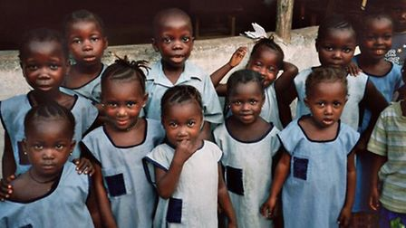 Children at the orphanage in Sierra Leone run by Ngadie Turay
