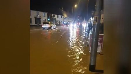 Flooding on the A140 at Long Stratton. Picture: Netherton Steakhouse