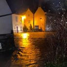 Flooding in Kenninghall on Wednesday, December 23. Picture: Lottie Thurgar