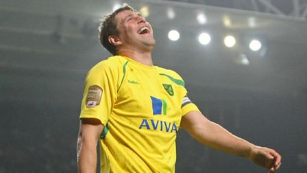 Grant Holt enjoying himself in April 2011 - the last time Norwich City visited Portman Road.