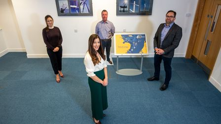 Jennie Kevis Stirling, Nikki Beales and Stuart Thornton set up a virtual office at Orbis Energy in Lowestoft.