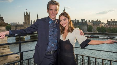 Pictured: (l-r) The Doctor (Peter Capaldi) and Clara (Jenna Coleman). Capaldi. Picture Credit : PA
