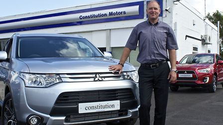 Ian Coates, managing director of Constitution Motors in Norwich which is now also a Mitsubishi franc