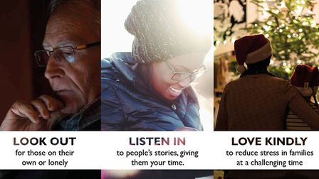 Poster of the The Look Out, Listen In, and Love Kindly social media initiative
