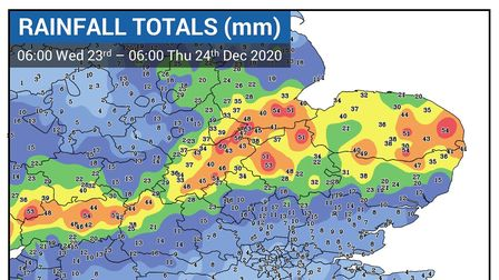 A months' worth of rainfellin 24 hours in parts of Norfolk, leaving homes and businesses flooded.