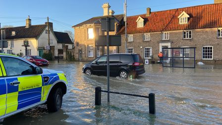 Long Stratton was one of the worth hit areas as a months' worth of rainfall fell in parts of Norfolk.