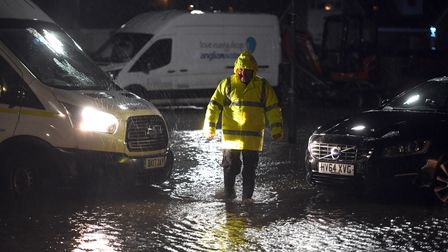 Flooding in Cavalry Drive in March.