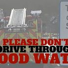 The Cambridgeshire Fire & Rescue Service is warning motorists not to drive through flood water.