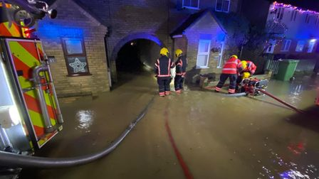 The Environment Agency has issued a warning about more flash flooding in Cambridgeshire on Thursday, December 24.