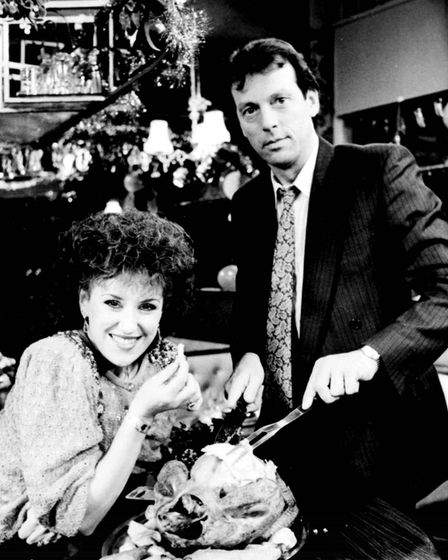 File photo dated 3/12/86 of the EastEnders Christmas programme with Queen Vic landlord 'Dirty' Den W