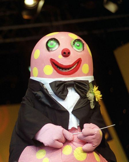PA file photo showing Mr Blobby, the character from television's Noel's House Party, at the CBBC (Ch