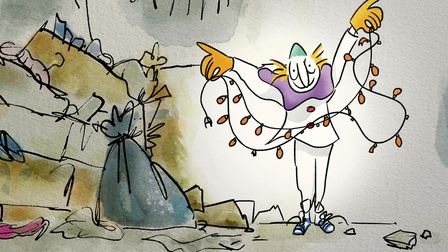Clown drawing by Quentin Blake