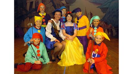 Landseer Players' panto Snow White, atSuffolk College in February 2005