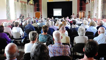 Heacham Village Hall was packed for today's public meeting.