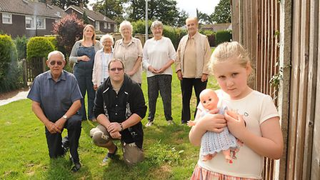 People living in The Paddocks are upset that Breckland is planning to sell off a strip of land to th