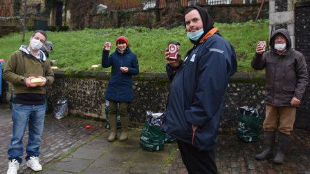 The Norwich Open Christmas on Christmas Day for the vulnerable and people in need, from left, Martia