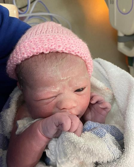 Freya Olivia Hall was born at 8.51am on Christmas morning weighing 6lbs, in West Suffolk Hospital