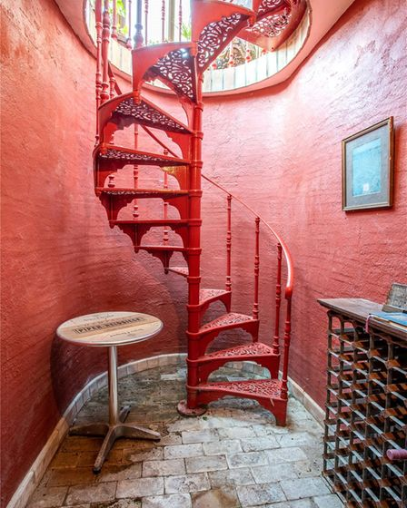 A spiral staircase in a home in Broomheath, Suffolk
