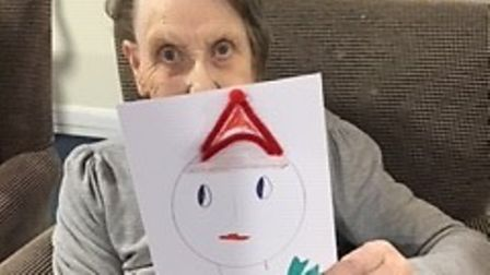 The Mayfields resident Rita with her Christmas card.