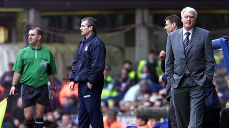 Master and his apprentice: Ipswich Town manager George Burley (second from left) and Newcastle Unite