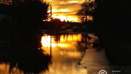 Yasmin Ismay took these photos of the floods in Earsham on Boxing Day.