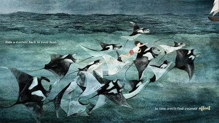 A page from Sail by author and illustrator Dorien Brouwers