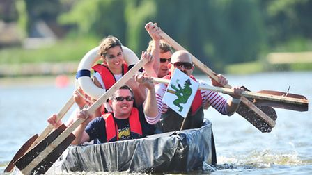 The Maiden in Distress raft race provided entertainment for a big crowd at the Lowestoft Lions' annu