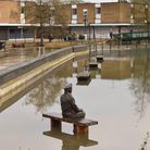 Flooding causes damage in Thetford over Christmas 2020. Credit - Sonya Duncan