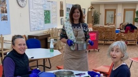 Volunteers prepare Christmas meals for vulnerable and isolated people