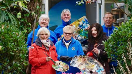 Members of Exmouth in Bloom and Exmouth Art Group launching the sensory garden project