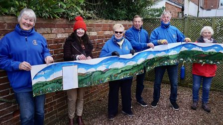 A mural which will form part of the sensory garden
